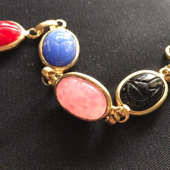 Vintage Scarab Bracelet, Gold Filled. M_5ac3ccd99d20f0435d47ed9a